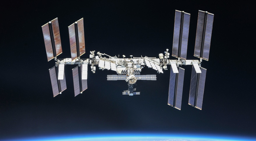 Space station maneuvers to avoid debris