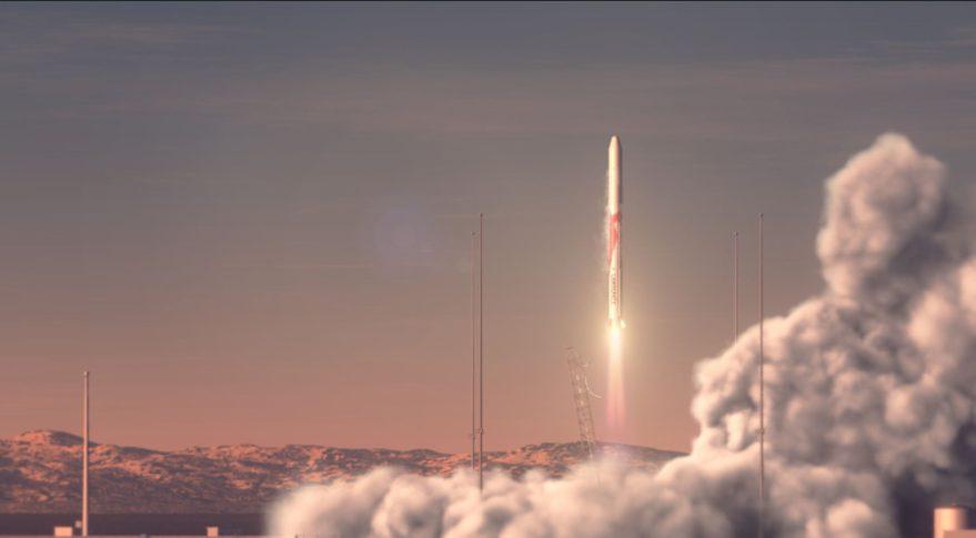 Artist's impression of a Landspace Zhuque rocket launch.