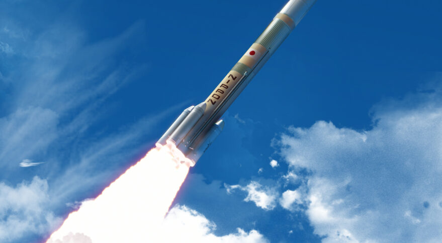 CG of a H3 Launch Vehicle launch.