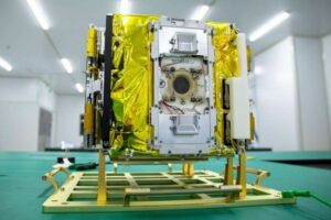 ThrustMe's NPT30-I2-1U thruster installed on the Spacety Beihanghongshi-1 CubeSat. Credit: Spacety