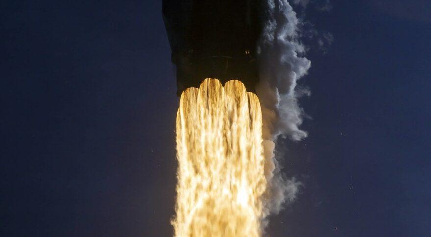 Falcon 9 engine closeup