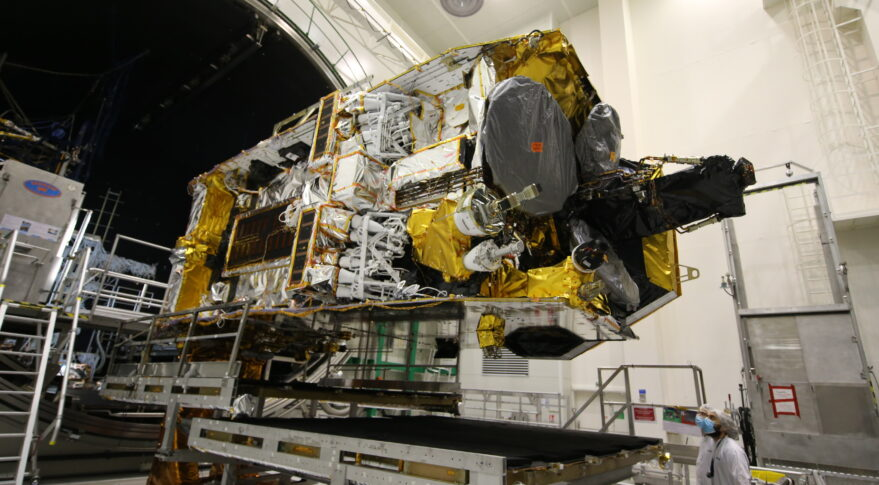 The first of Inmarsat's I-6 satellites, I-6 F1, enters thermal vacuum testing.