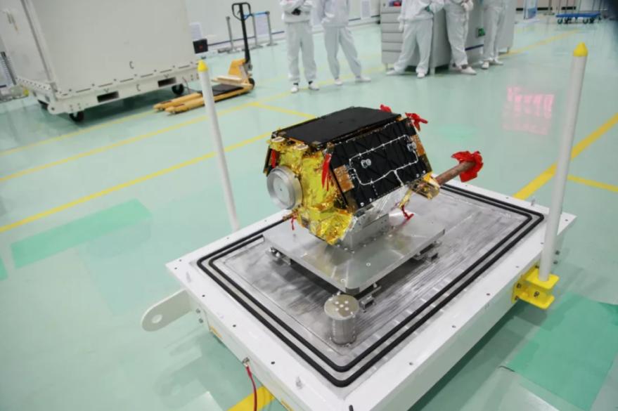 The Hongyan-1 satellite ahead of launch in 2018.