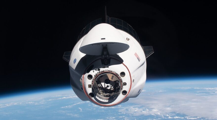 Crew Dragon approaching ISS