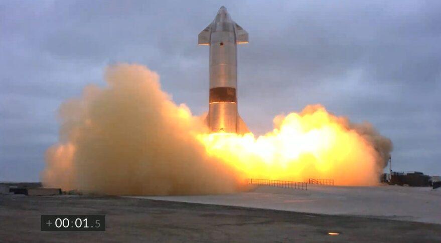 Starship liftoff