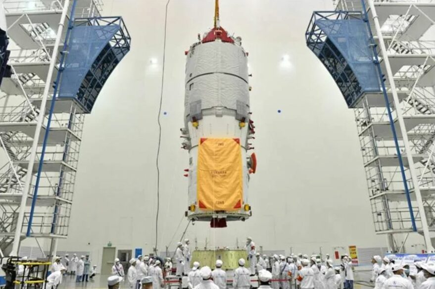 The Tianzhou-2 spacecraft undergoing testing.  - tianzhou2 CAST may2021 879x583 - Tianzhou-2 docks with China's space station module