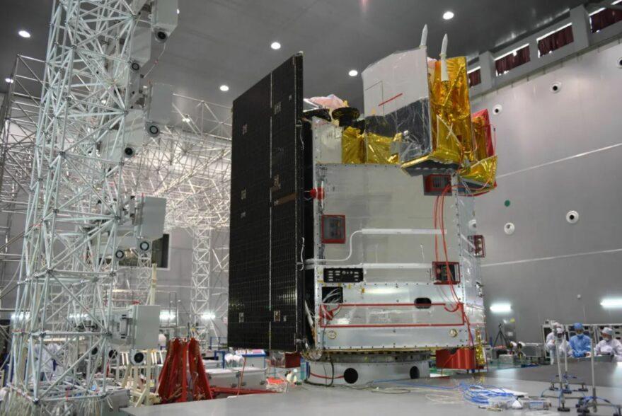 The Fengyun-4B satellite undergoing testing.