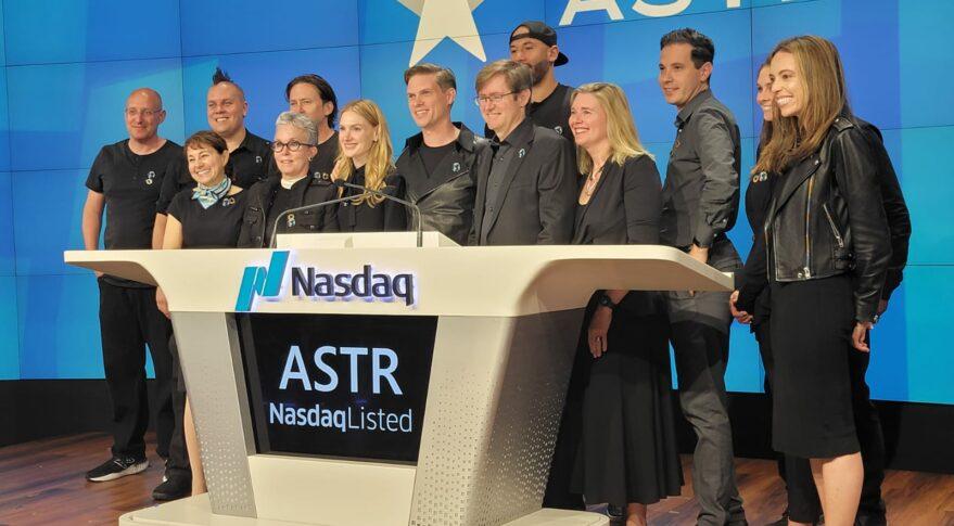 Astra team at Nasdaq