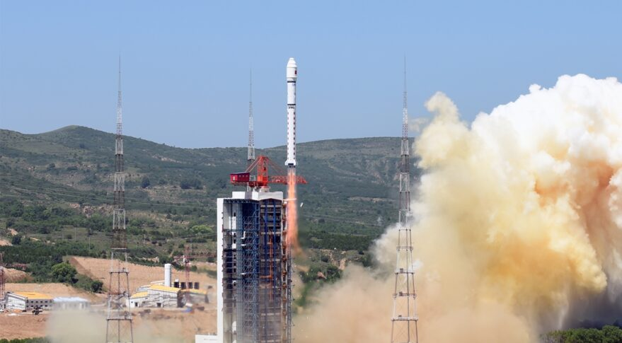 A Long March 2D lifts off from Taiyuan early July 3 UTC carrying five commercial satellites.