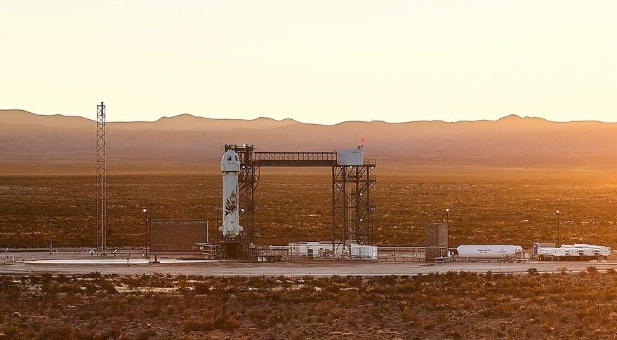 New Shepard on launch pad