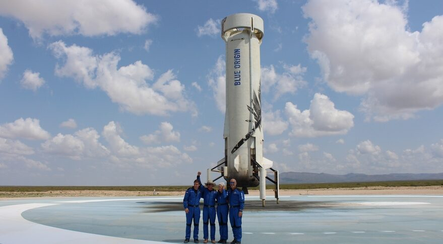 NS-16 crew and booster
