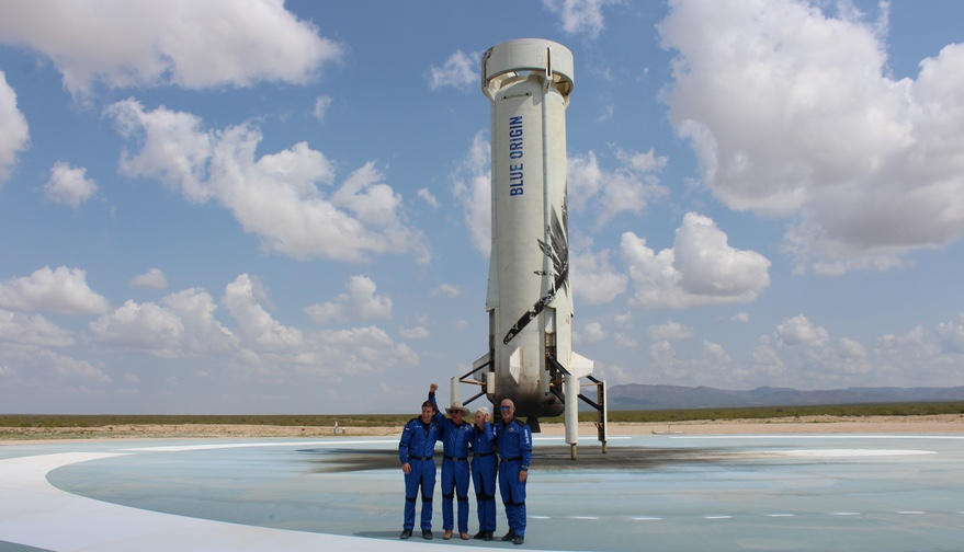 New Shepard astronauts rave about suborbital spaceflight experience as Bezos faces backlash thumbnail