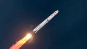 Render of the Tianlong-1 commercial reusable launch vehicle being developed by China's Space Pioneer.