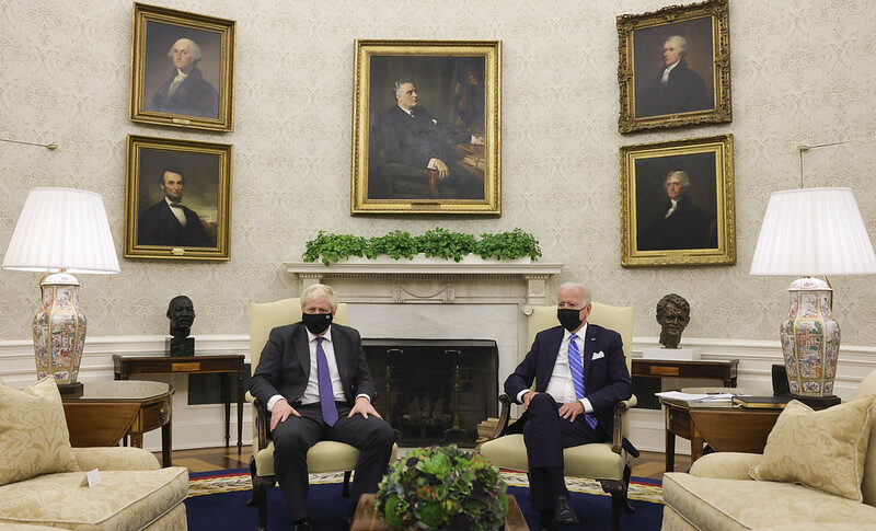 U.K. Prime Minister Boris Johnson and U.S. President Joe Biden