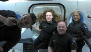 Inspiration4 crew in space