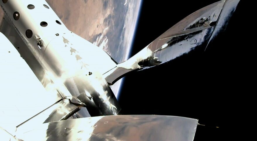 SpaceShipTwo in space