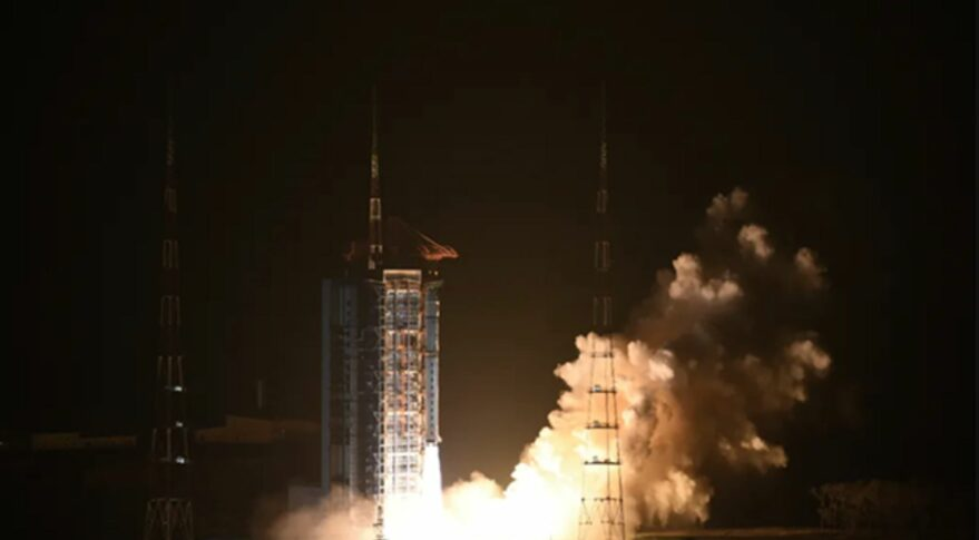 Launch of the Chinese H-alpha Solar Explorer and 10 more satellites on a Long March 2D from Taiyuan, Oct. 14, 2021.