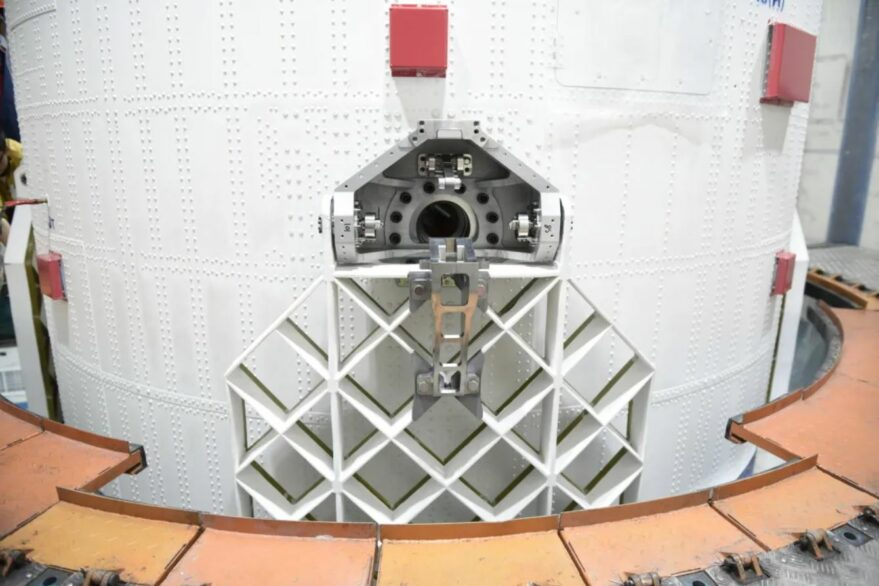 Grid fins on the Long March 2D which launched CHASE and ten more satellites in October 2021.