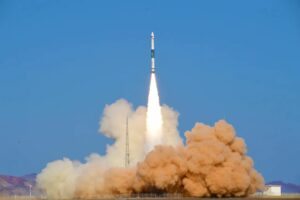 China sets a new national orbital launch record with launch of a Kuaizhou-1A rocket carrying the Jilin-1 Gaofen-02F satellite, Oct. 27, 2021.